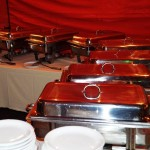 Warmes Buffet und Küche